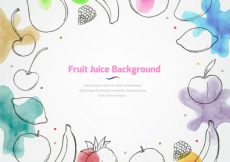 Free vector Fruit juice background with watercolor stains #7701
