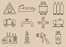 Free vector Gas Energy Icons #6361