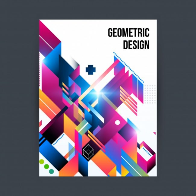 Free vector Geometric cover design #6157