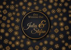 Free vector Golden wedding pattern with stars #6628