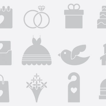 Free vector Gray Wedding Icons #6809