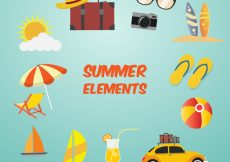 Free vector Great collection of summer elements #5509