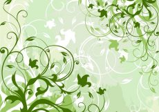 Free vector Green Floral Background #4202
