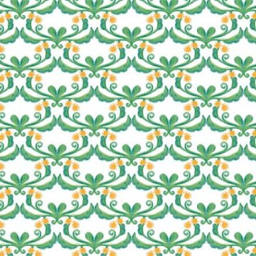 Free vector Green Floral Vector Watercolor Background #11420