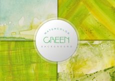 Free vector Green watercolor effect background #7669