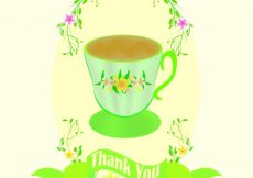 Free vector Greeting card with cup  #10245