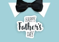 Free vector Happy father's day with bow tie background #6890