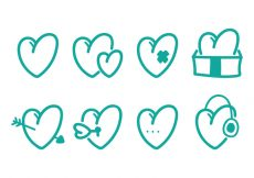 Free vector Heart Icon Set #8941