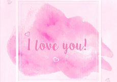 Free vector I love you background #9654
