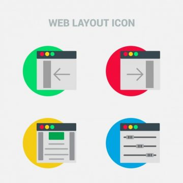 Free vector Icons, web templates #11599