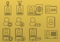 Free vector ID Line Icons #4680