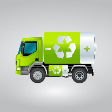 Free vector Isolated recycling truck #12211
