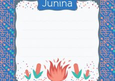 Free vector Junina party decorative frame #10037