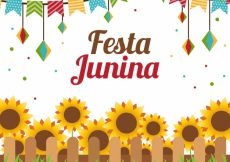 Free vector Junina party sunflowers background in flat design #4490