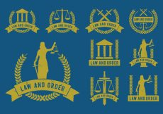 Free vector Law and Order Icons Vector Set #4060