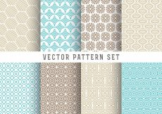 Free vector Line pattern set #5649