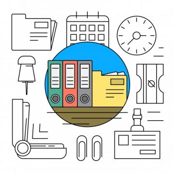 Free vector Linear business icons #6232