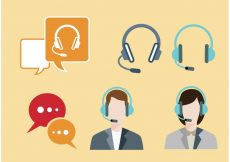 Free vector Live Chat Icons #7726