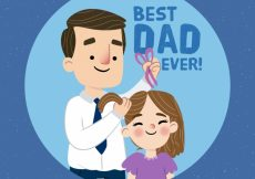 Free vector Lovely father scene background combing his daughter #7142
