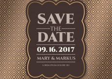Free vector Luxury save the date card #7811