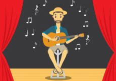 Free vector Man playing guitar background #5399