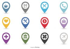 Free vector Map Legend Icon Set #9777