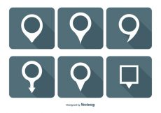 Free vector Map Pin Vector Icon Set #6243