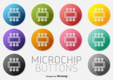 Free vector Microchip Icon Buttons Vector Set #5502