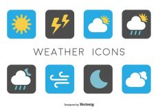 Free vector Minimal Weather Icons #5148