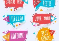 Free vector Modern colorful chat bubbles #8348