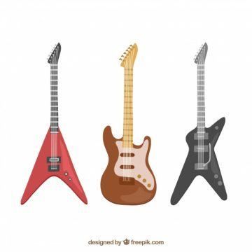 Free vector Modern electric guitar collection #5391