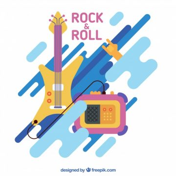 Free vector Modern rock and roll background #5379