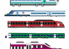 Free vector Modern train collection #3876