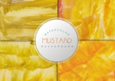 Free vector Mustard watercolor effect background #7647