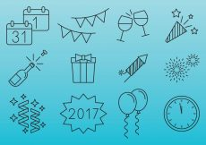 Free vector New Year Celebration Icons #5074