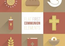 Free vector Nice religious elements in flat design #4216