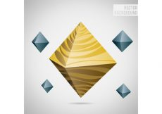 Free vector Octagon Abstract Vector Background #10705