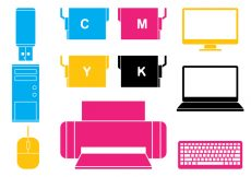 Free vector Office Electronics Icon Set #9814