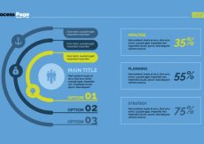 Free vector Options and stats infographic design #7457