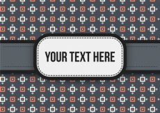 Free vector Orange and white pattern background with texto #5943