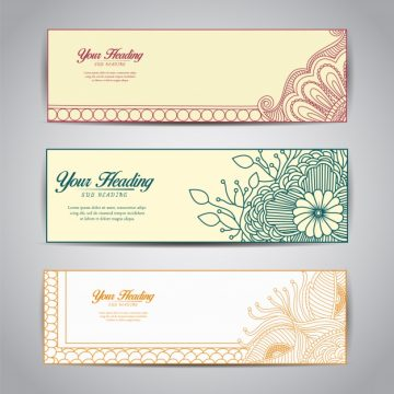 Free vector Ornamental banner collection #8878