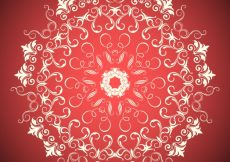 Free vector Ornaments on a red background #11349