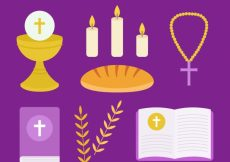 Free vector Pack of first communion items #4207