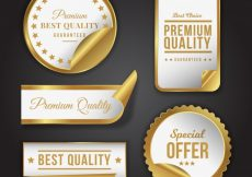 Free vector Pack of luxury products stickers #12141