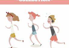 Free vector Pack of people running #4937