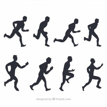 Free vector Pack of runners silhouettes #5335