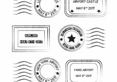 Free vector Pack of vintage stamps #7014