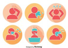 Free vector Pain And Affliction Icons Vector #9071
