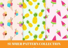 Free vector Patterns with fruit and ice cream #9385