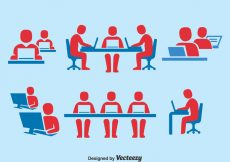 Free vector People Working Together Icons Set #5038